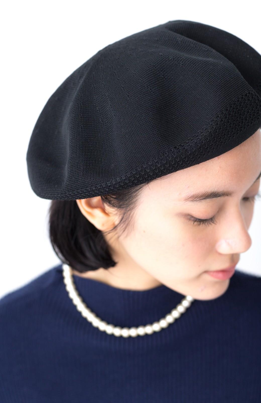 haco! ハイゲージニットベレー帽 <ブラック>の商品写真5