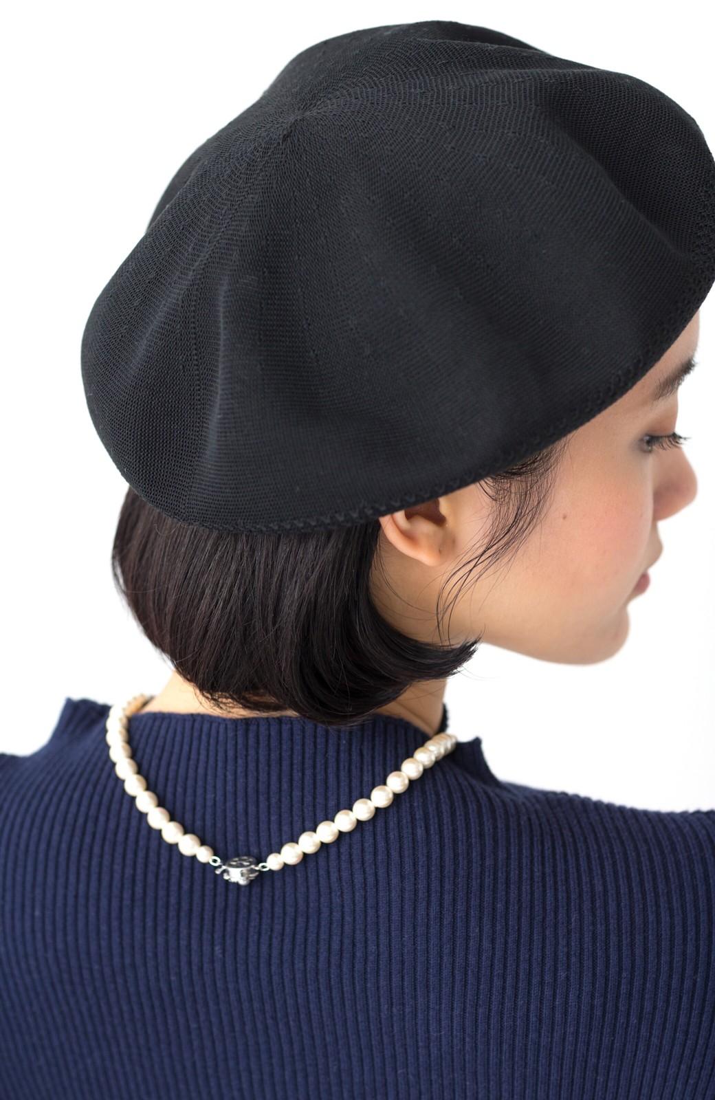 haco! ハイゲージニットベレー帽 <ブラック>の商品写真6