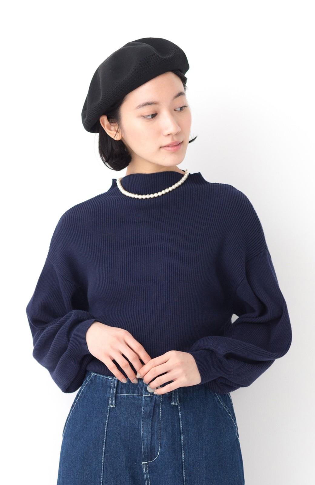 haco! ハイゲージニットベレー帽 <ブラック>の商品写真9