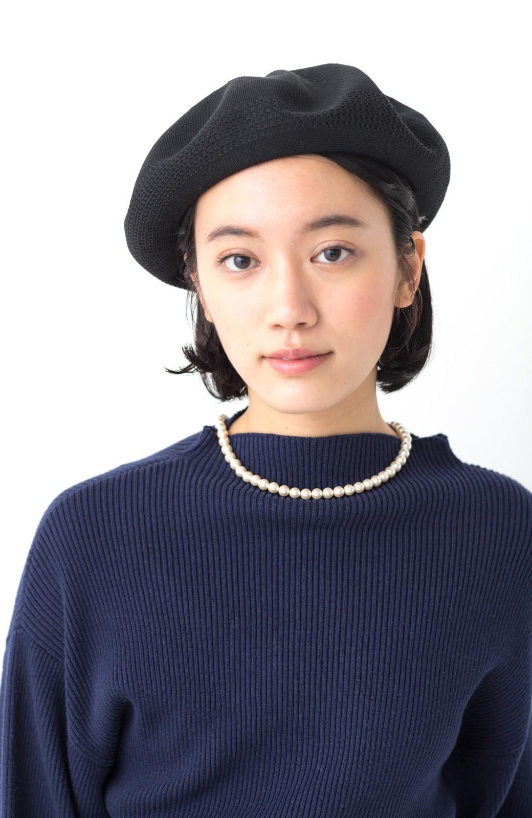 haco! ハイゲージニットベレー帽 <ブラック>の商品写真10