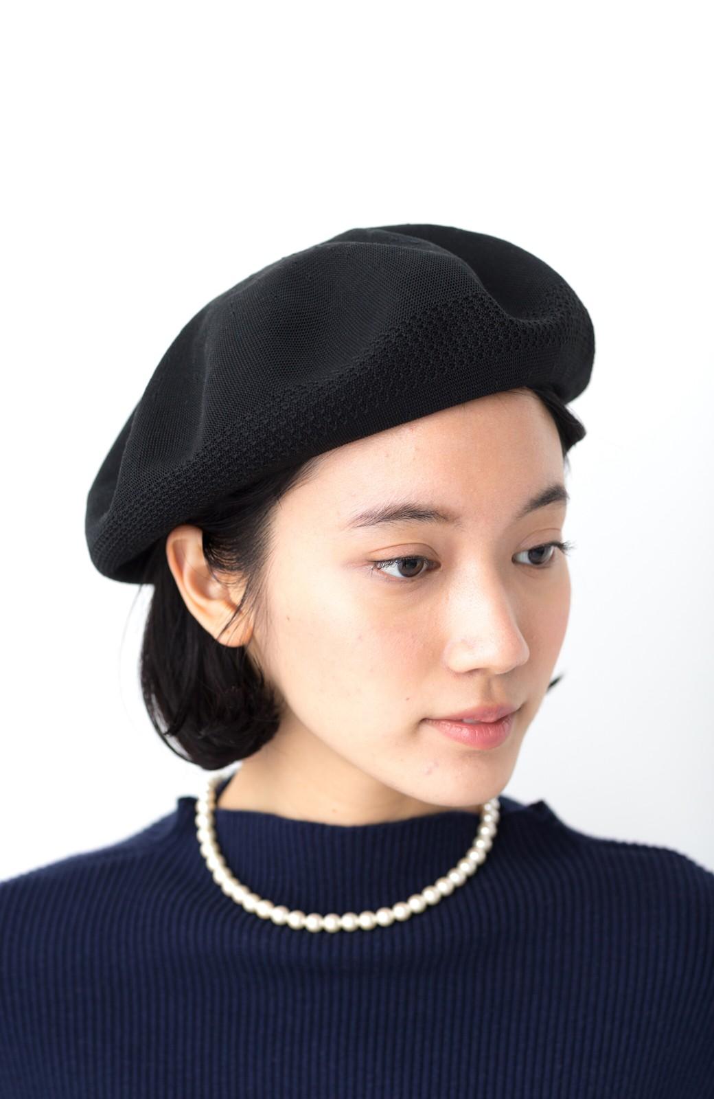 haco! ハイゲージニットベレー帽 <ブラック>の商品写真1