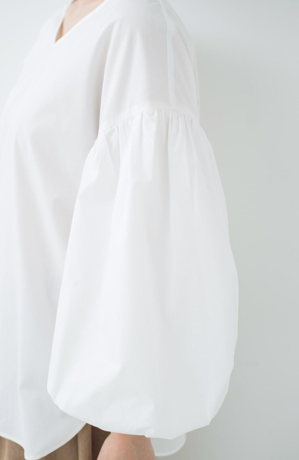 haco! Tシャツのかわりに着たい バルーンスリーブブラウス by que made me <ホワイト>の商品写真3
