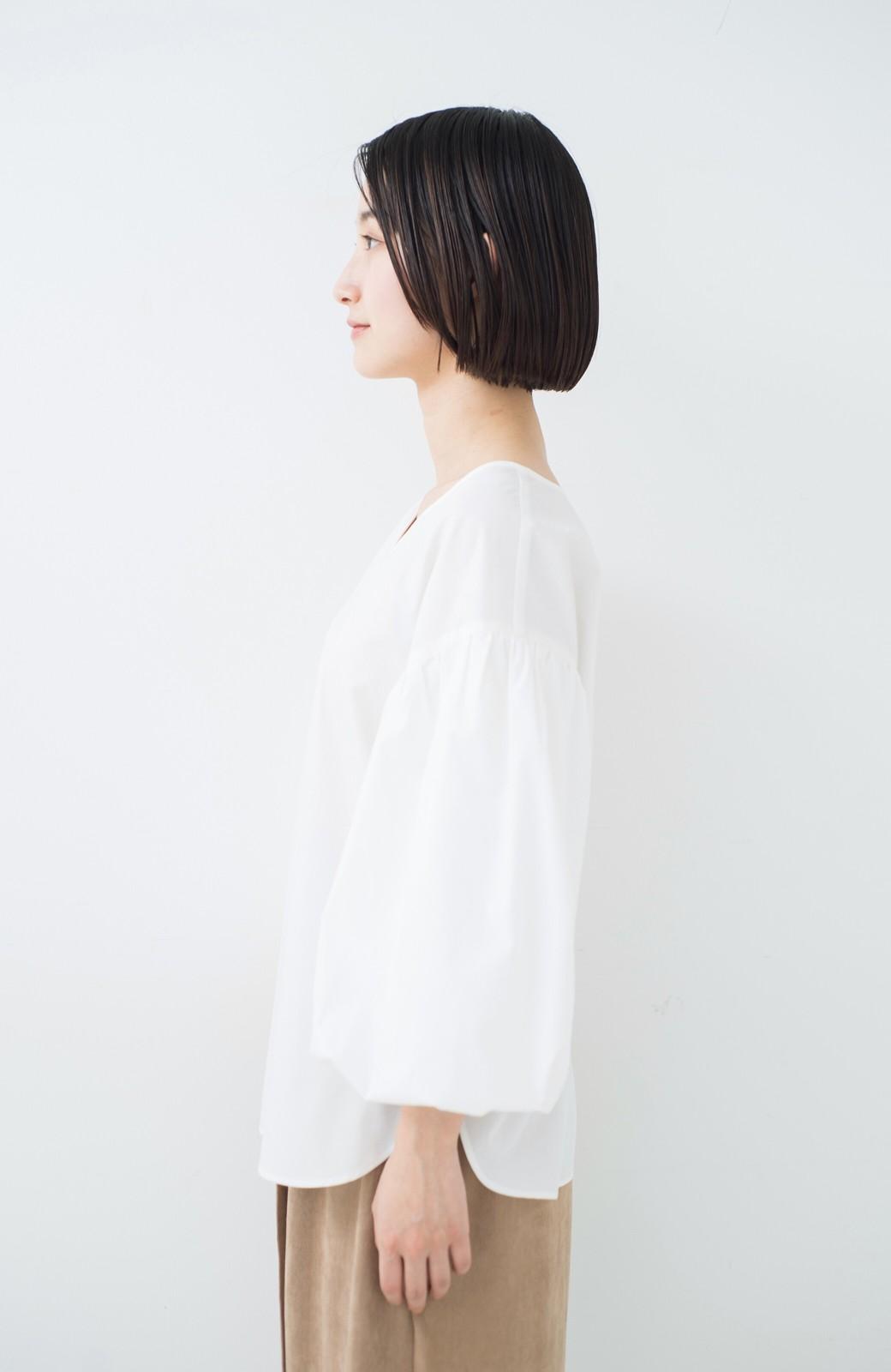 haco! Tシャツのかわりに着たい バルーンスリーブブラウス by que made me <ホワイト>の商品写真21