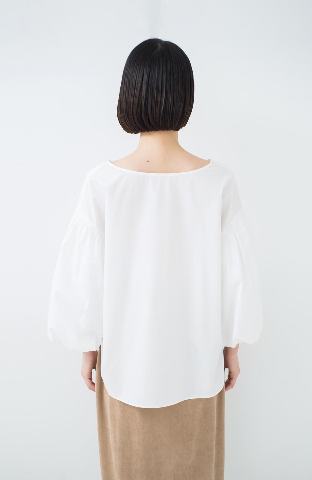 haco! Tシャツのかわりに着たい バルーンスリーブブラウス by que made me <ホワイト>の商品写真22
