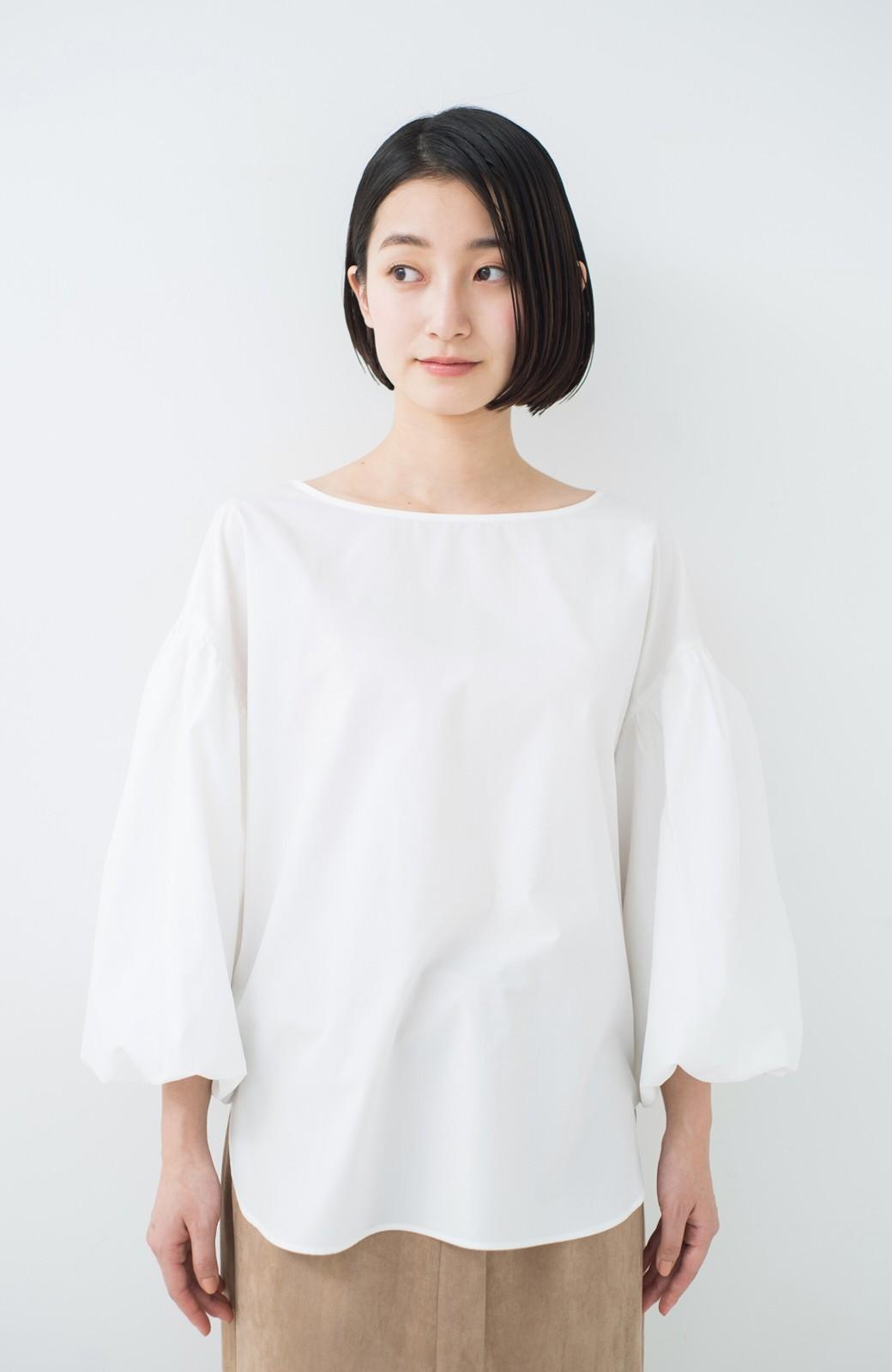 haco! Tシャツのかわりに着たい バルーンスリーブブラウス by que made me <ホワイト>の商品写真24