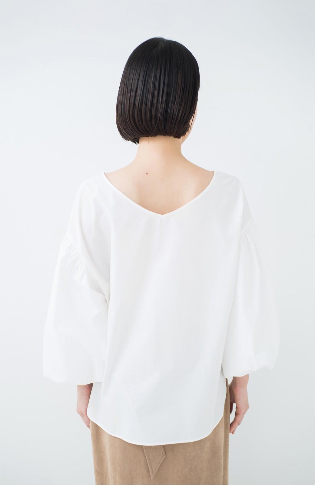 haco! Tシャツのかわりに着たい バルーンスリーブブラウス by que made me <ホワイト>の商品写真25
