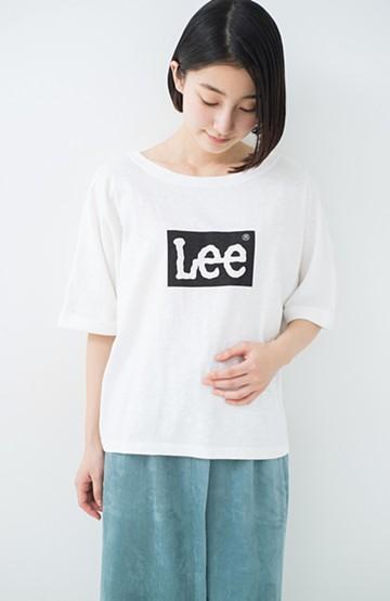 haco! 別注 LeeゆるシルエットのロゴTシャツ <ホワイト>の商品写真