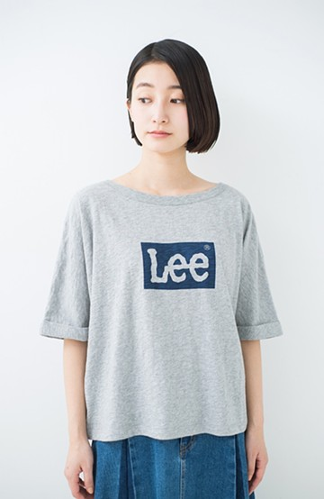 haco! 別注 LeeゆるシルエットのロゴTシャツ <杢グレー>の商品写真