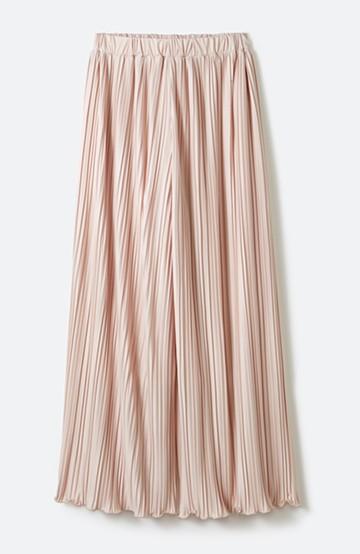 haco! パンツ派さんのデート着 ふんわり華やかなランダムプリーツパンツ <ピンク>の商品写真