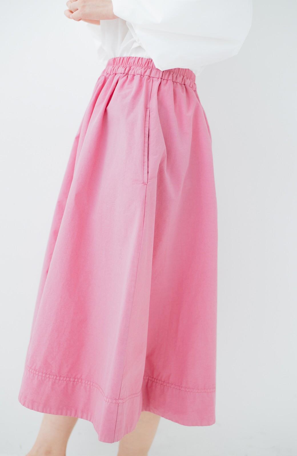 haco! 花や野菜を使って染めた 楽ちんキレイなフレアースカート <ピンク>の商品写真6