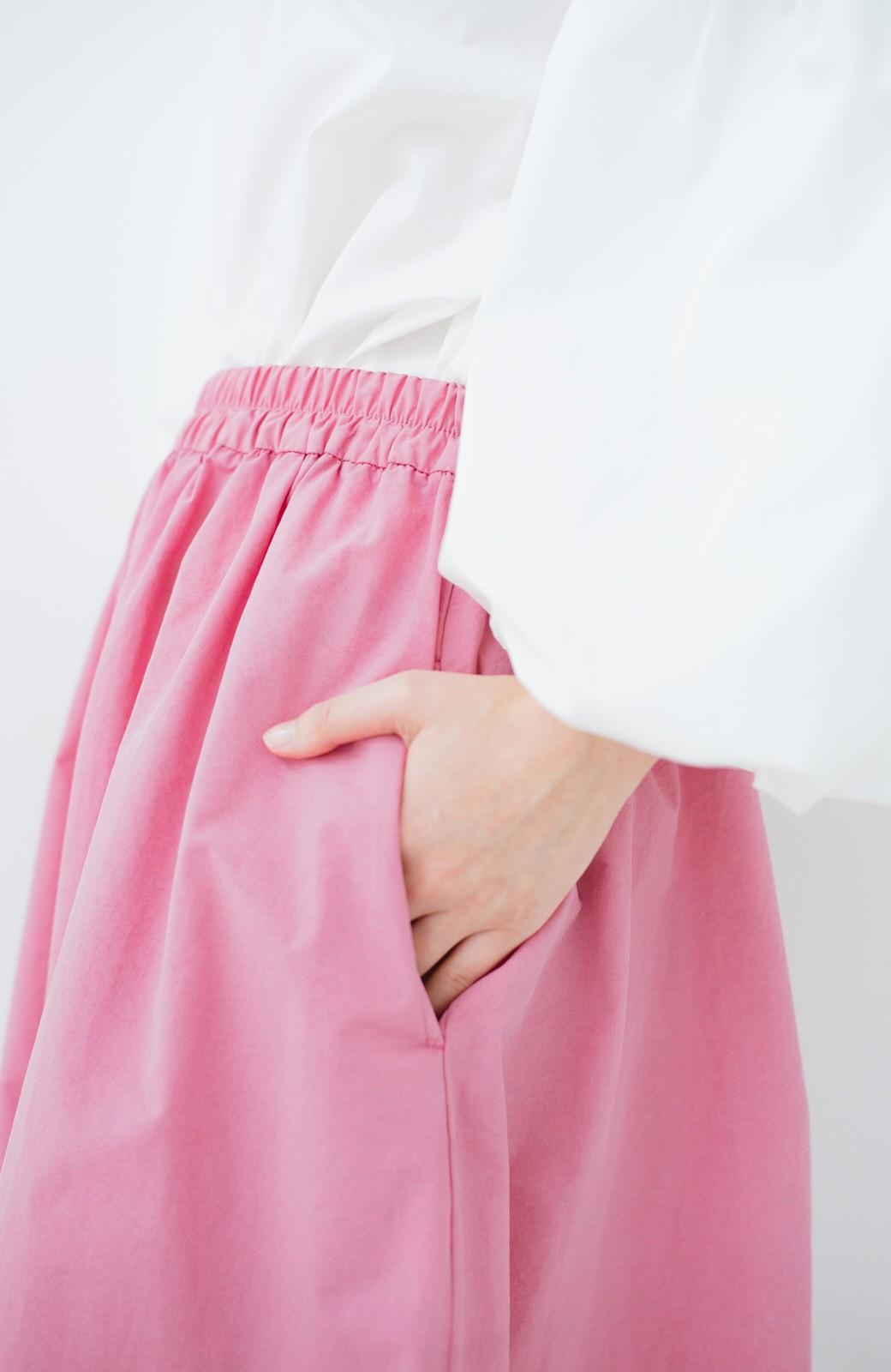 haco! 花や野菜を使って染めた 楽ちんキレイなフレアースカート <ピンク>の商品写真7