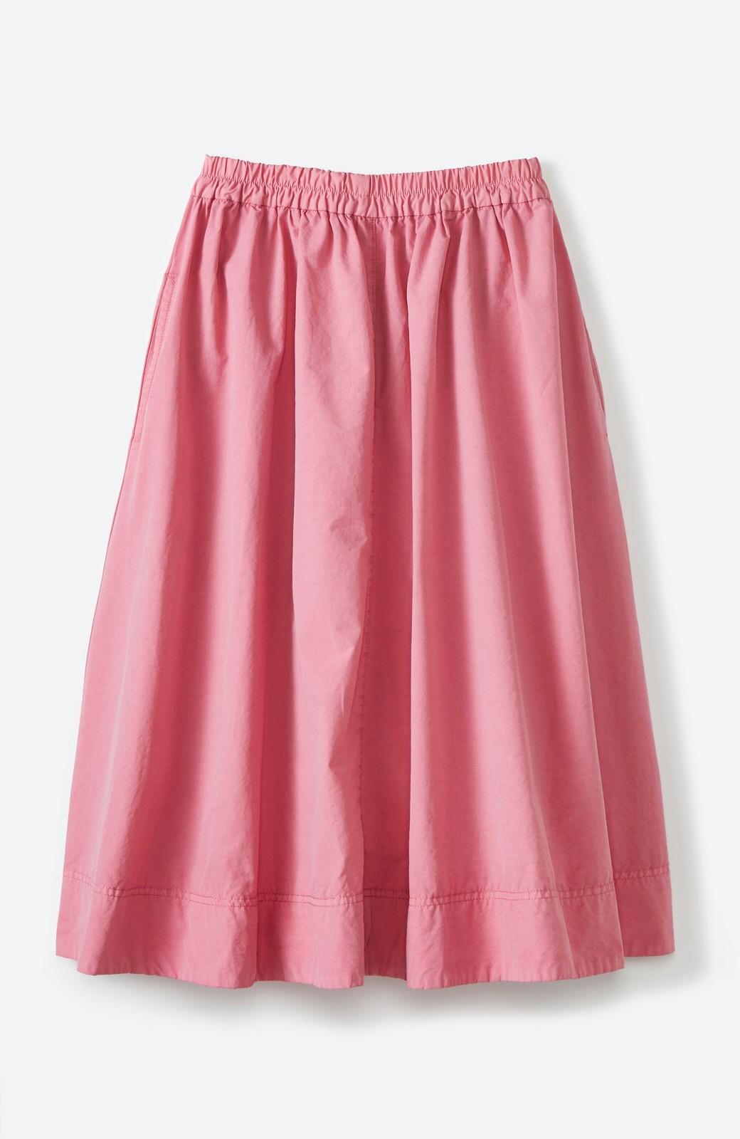 haco! 花や野菜を使って染めた 楽ちんキレイなフレアースカート <ピンク>の商品写真1