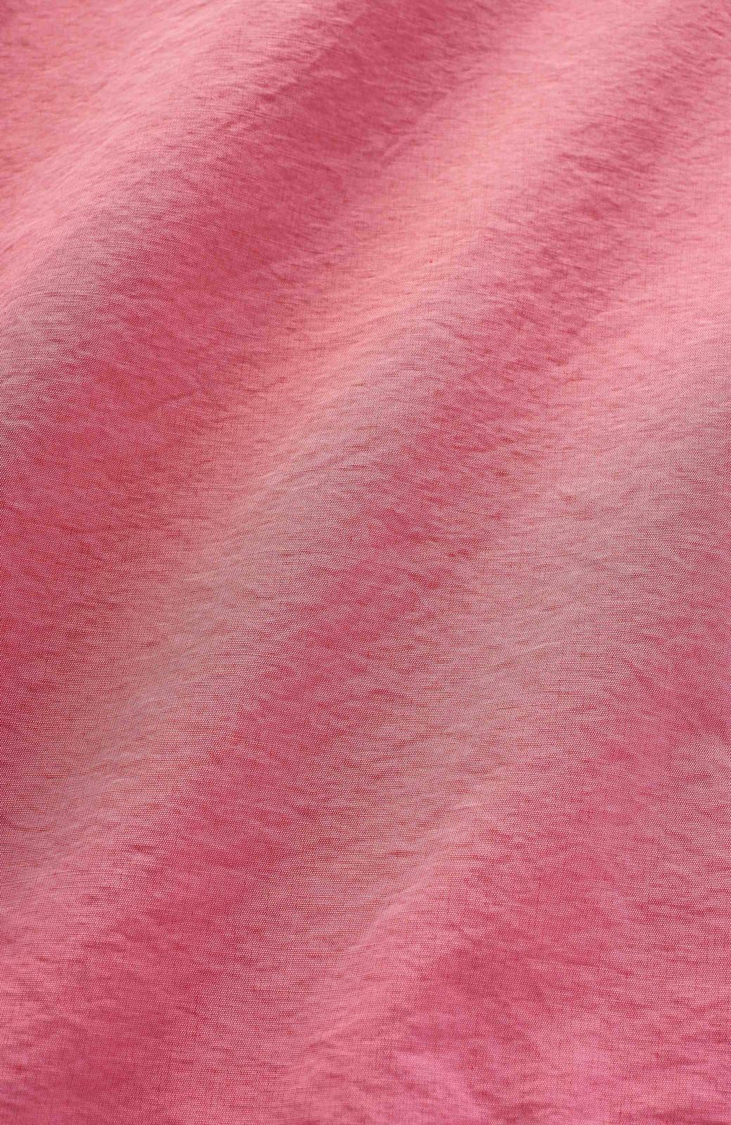 haco! 花や野菜を使って染めた 楽ちんキレイなフレアースカート <ピンク>の商品写真2