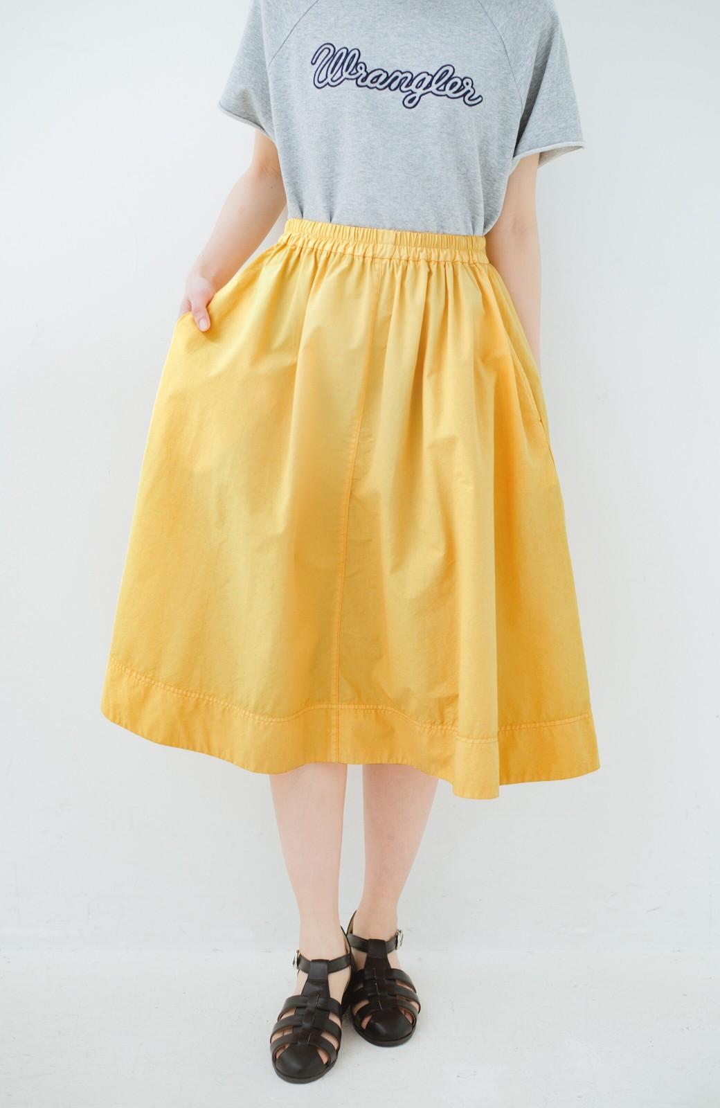 haco! 花や野菜を使って染めた 楽ちんキレイなフレアースカート <イエロー>の商品写真2