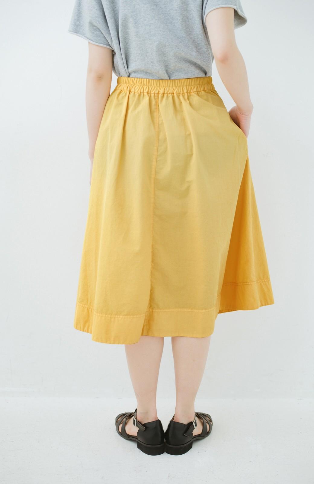 haco! 花や野菜を使って染めた 楽ちんキレイなフレアースカート <イエロー>の商品写真5
