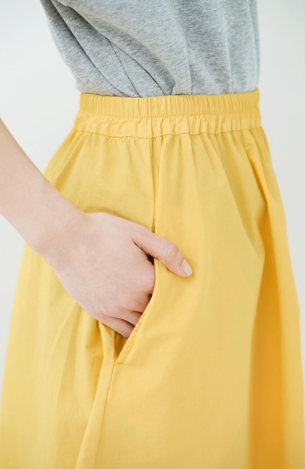 haco! 花や野菜を使って染めた 楽ちんキレイなフレアースカート <イエロー>の商品写真6