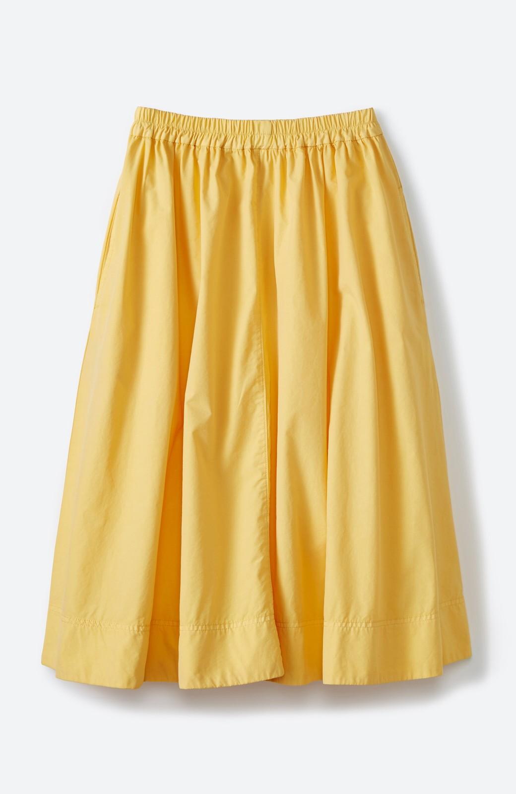 haco! 花や野菜を使って染めた 楽ちんキレイなフレアースカート <イエロー>の商品写真3