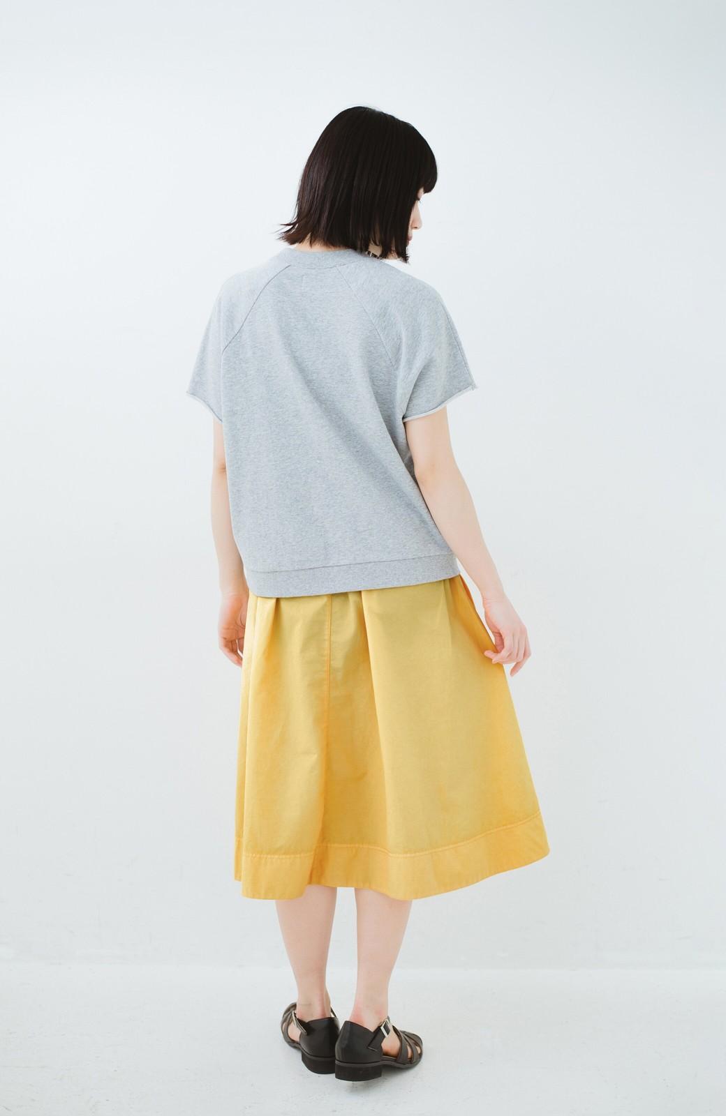 haco! 花や野菜を使って染めた 楽ちんキレイなフレアースカート <イエロー>の商品写真10