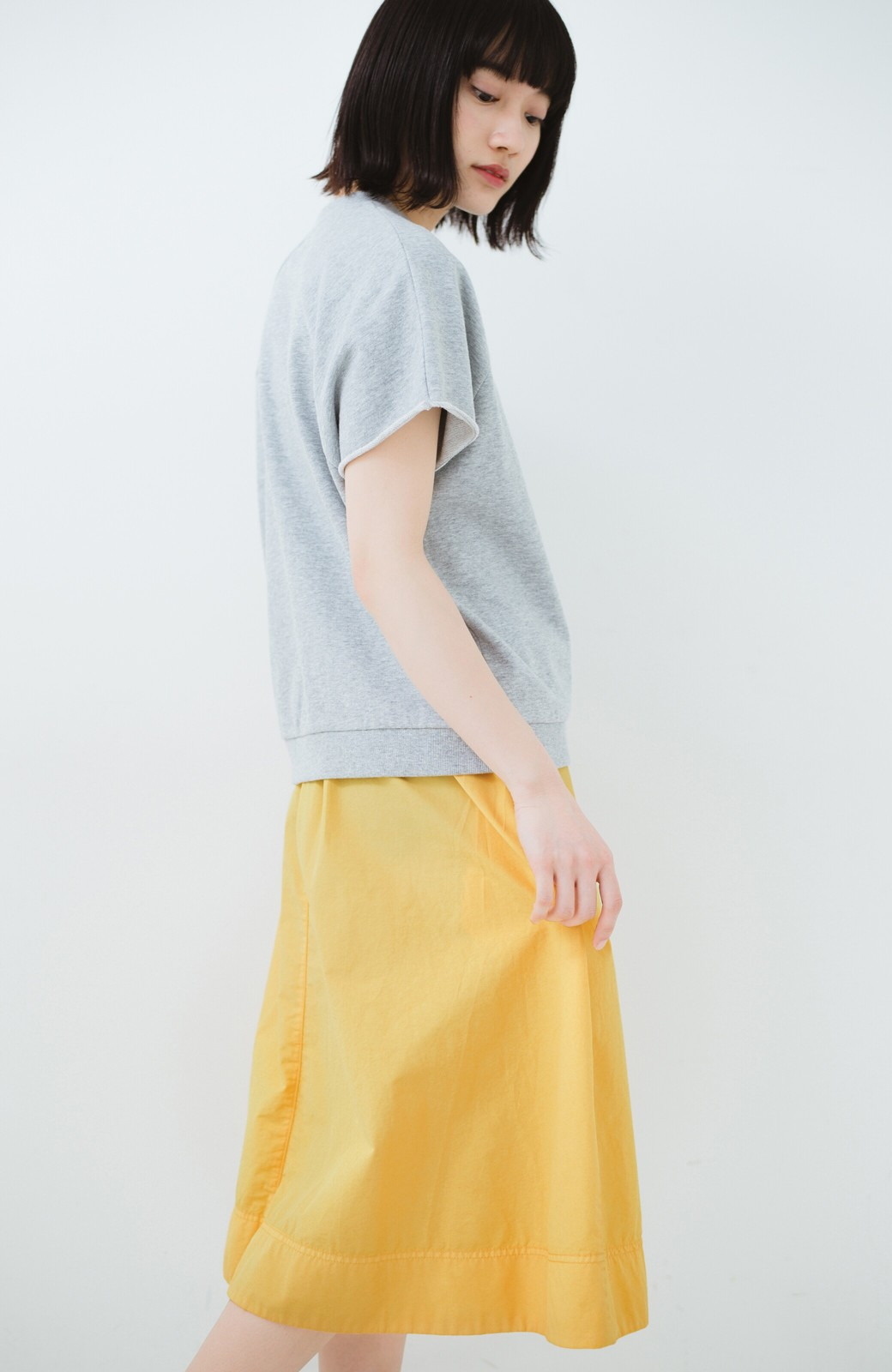 haco! 花や野菜を使って染めた 楽ちんキレイなフレアースカート <イエロー>の商品写真12