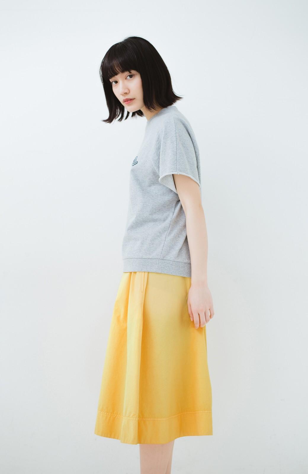 haco! 花や野菜を使って染めた 楽ちんキレイなフレアースカート <イエロー>の商品写真13