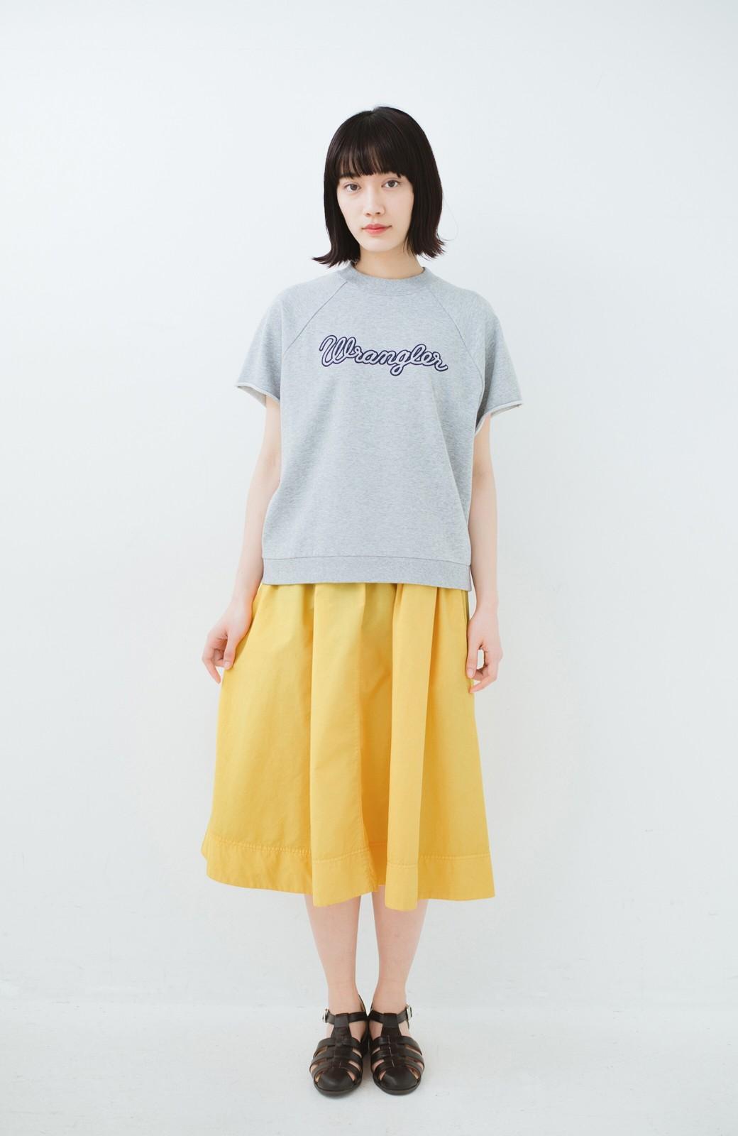 haco! 花や野菜を使って染めた 楽ちんキレイなフレアースカート <イエロー>の商品写真7