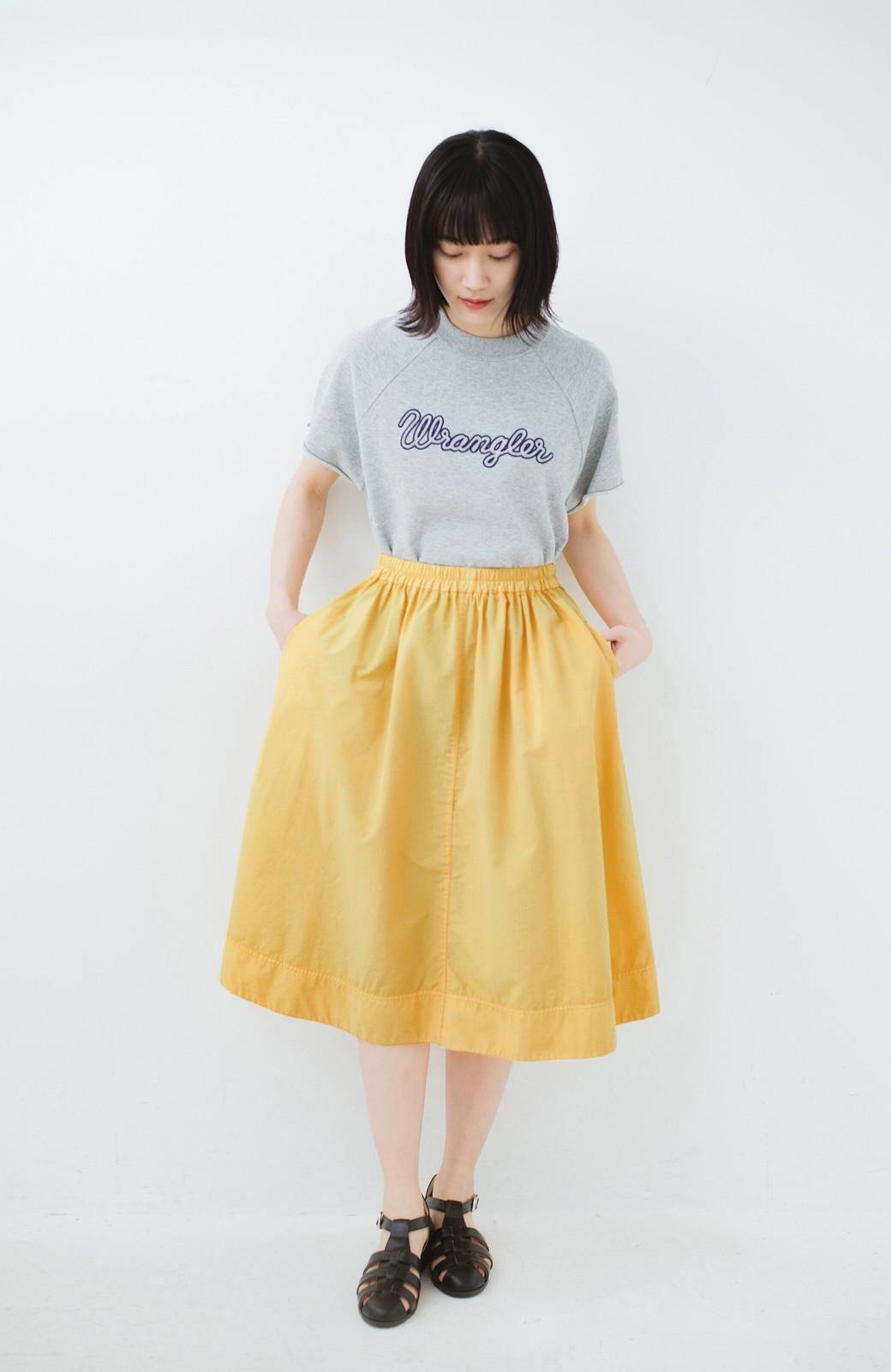 haco! 花や野菜を使って染めた 楽ちんキレイなフレアースカート <イエロー>の商品写真8