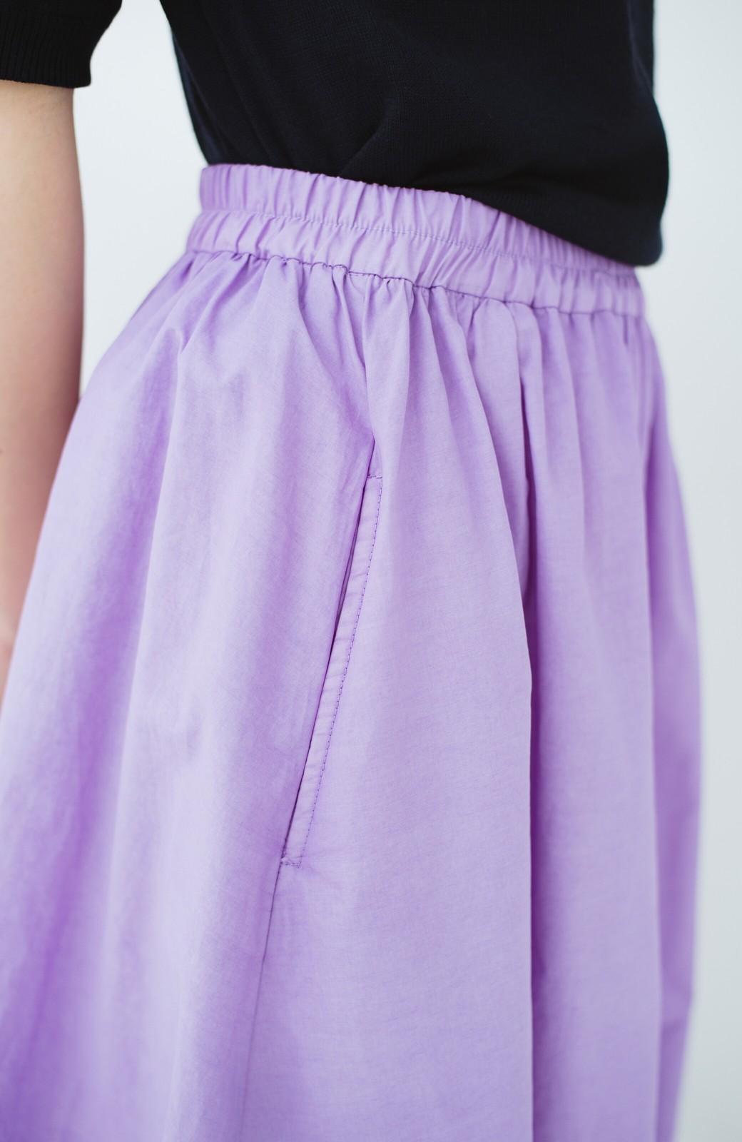 haco! 花や野菜を使って染めた 楽ちんキレイなフレアースカート <ラベンダー>の商品写真7