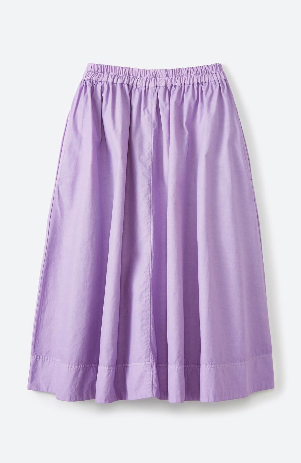 haco! 花や野菜を使って染めた 楽ちんキレイなフレアースカート <ラベンダー>の商品写真1