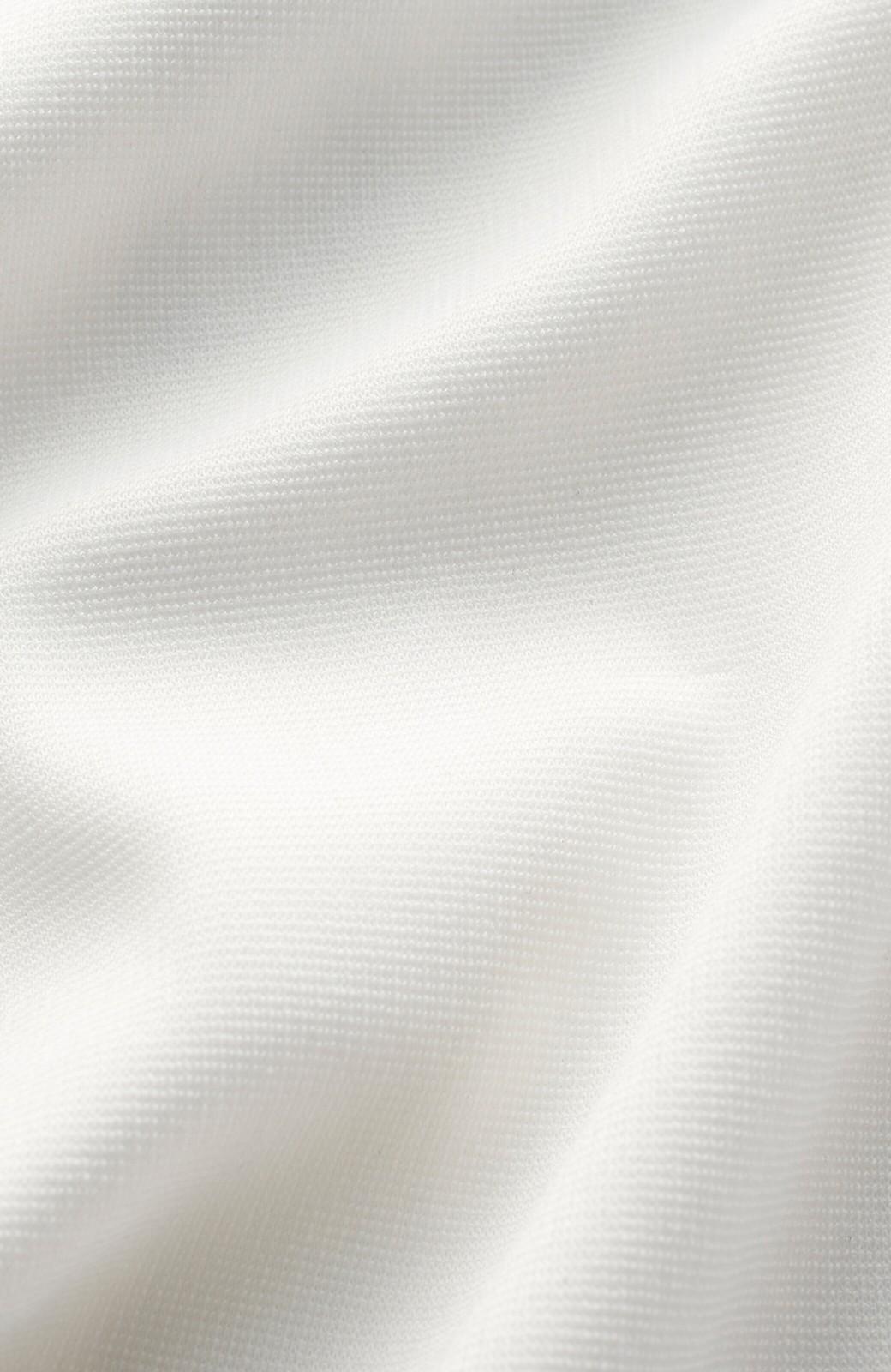 haco! じゃぶじゃぶ洗えて毎日頼れるスタンドカラーブラウス <ホワイト>の商品写真2