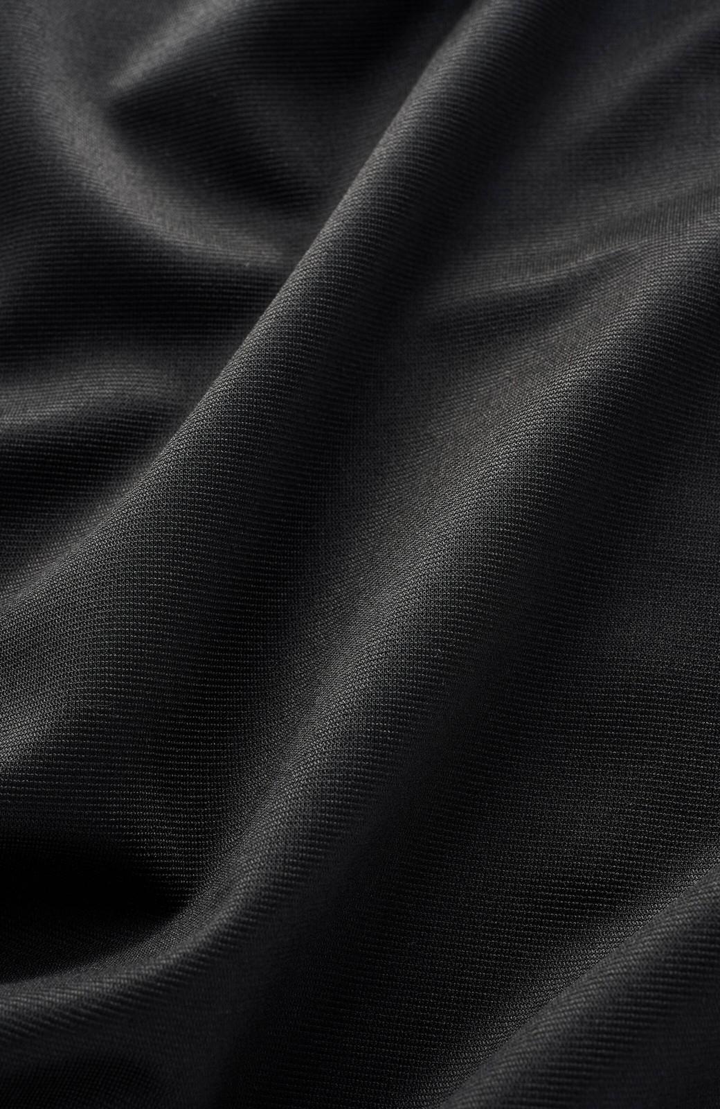 haco! じゃぶじゃぶ洗えて毎日頼れるスタンドカラーブラウス <ブラック>の商品写真3