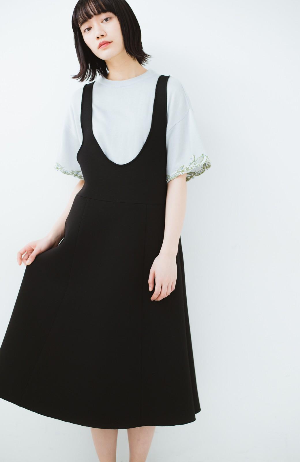haco!  Tシャツ感覚で着られて華やか見せ カットワークすずらん刺しゅうニット <グレー>の商品写真16