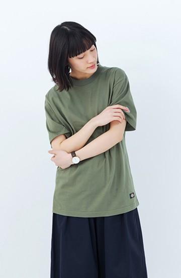haco! Dickies ロゴワッペンルーズフィットTシャツ <オリーブ>の商品写真