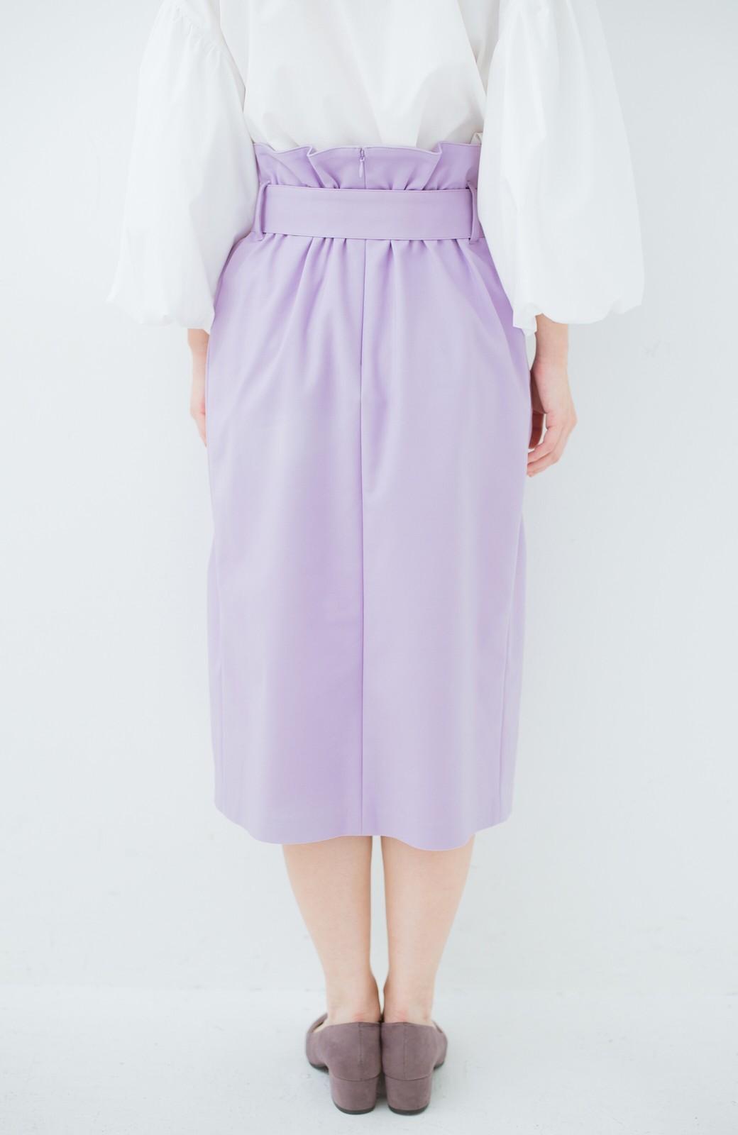 haco! こんな服着てデートしたい! ウエストリボンの女っぽスカート <ラベンダー>の商品写真3