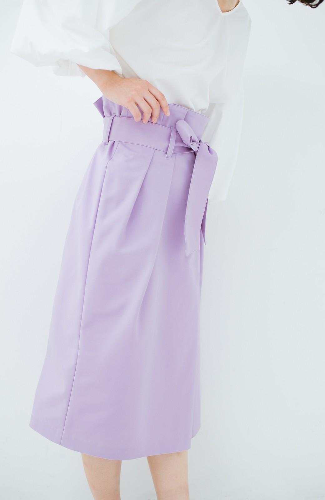 haco! こんな服着てデートしたい! ウエストリボンの女っぽスカート <ラベンダー>の商品写真4