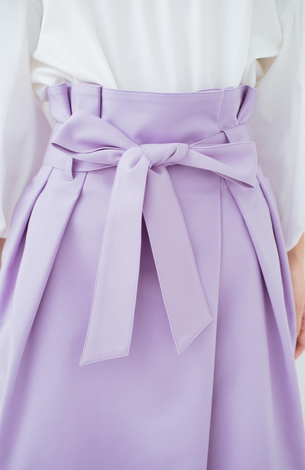 haco! こんな服着てデートしたい! ウエストリボンの女っぽスカート <ラベンダー>の商品写真5