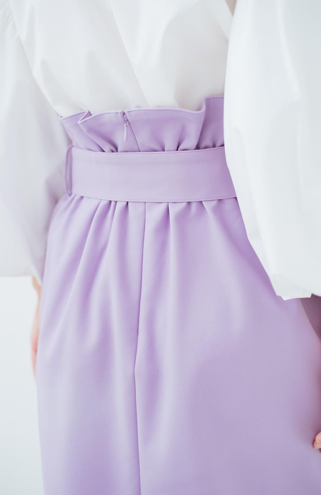 haco! こんな服着てデートしたい! ウエストリボンの女っぽスカート <ラベンダー>の商品写真6