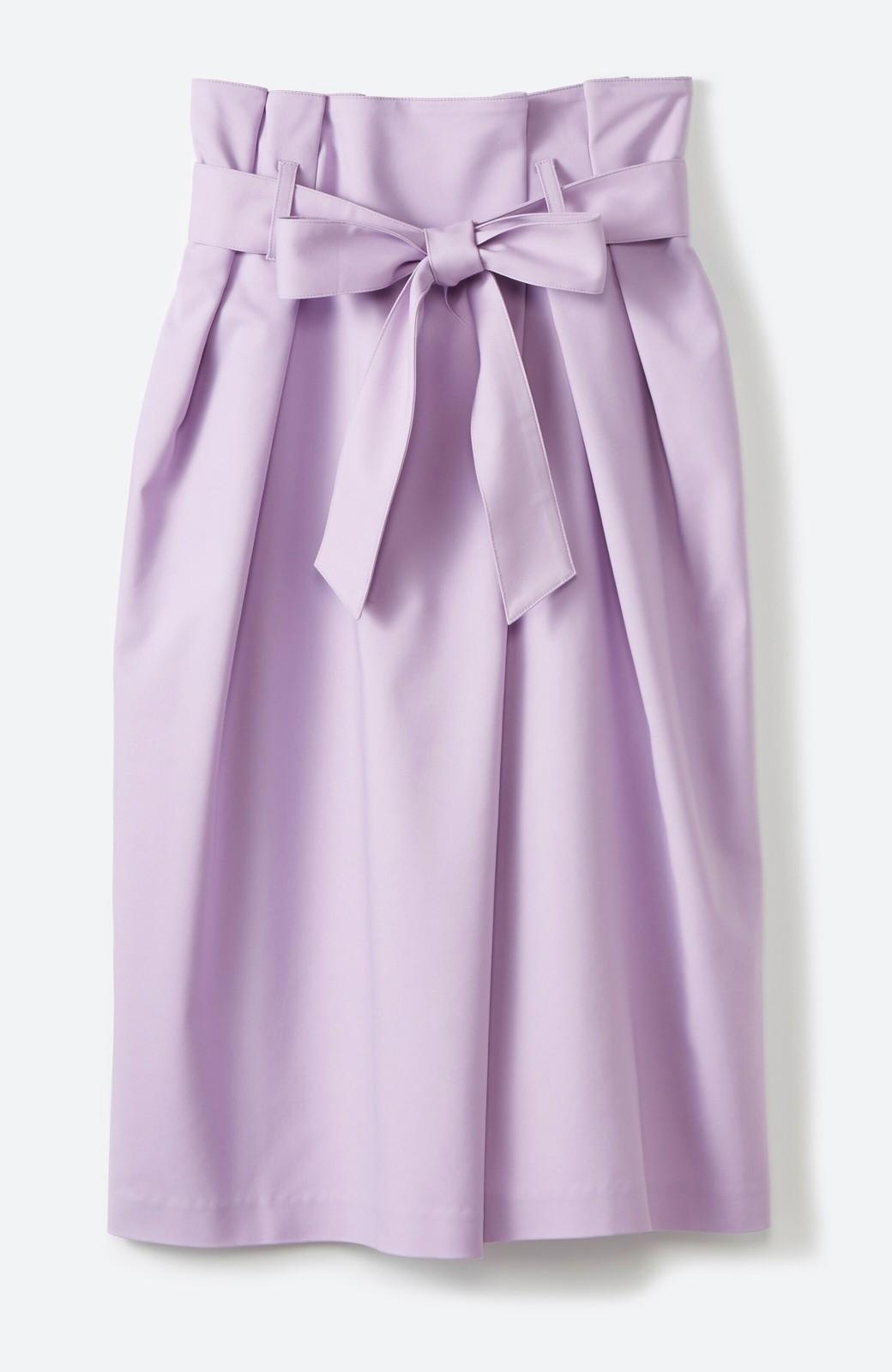 haco! こんな服着てデートしたい! ウエストリボンの女っぽスカート <ラベンダー>の商品写真1