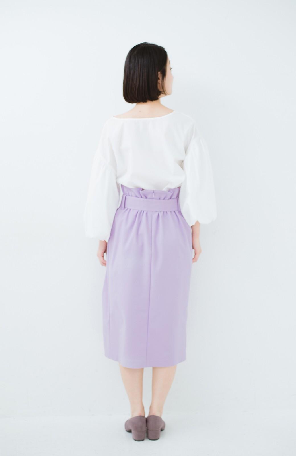 haco! こんな服着てデートしたい! ウエストリボンの女っぽスカート <ラベンダー>の商品写真13