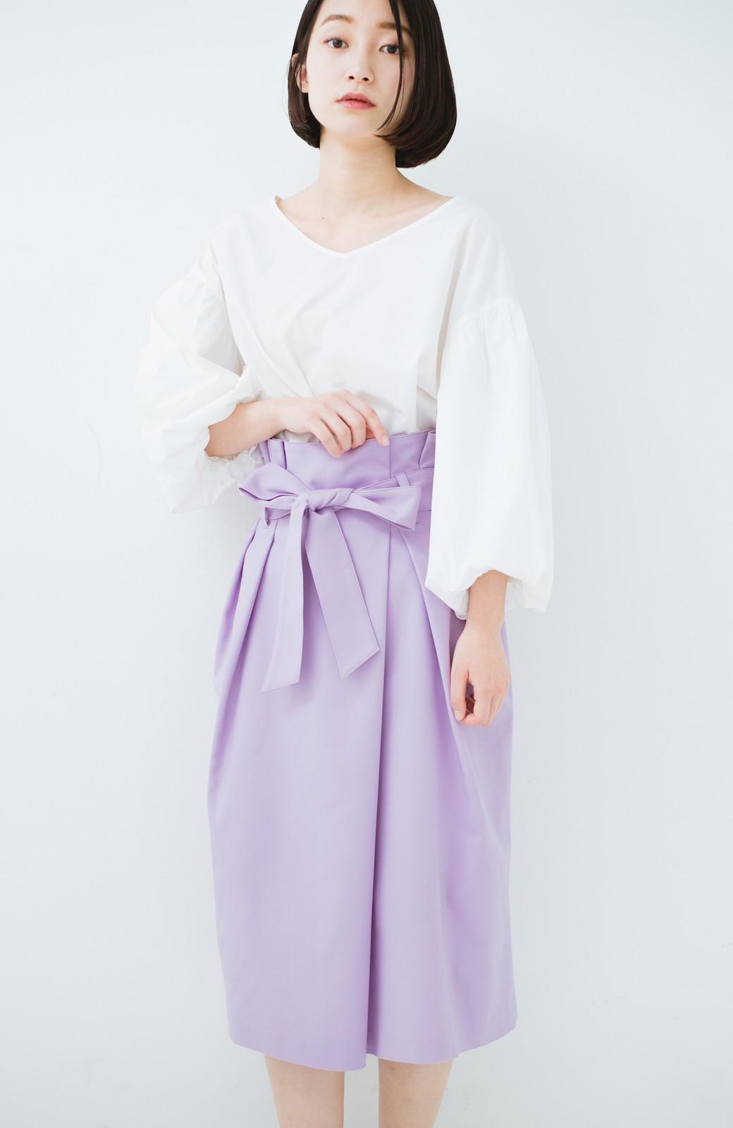 haco! こんな服着てデートしたい! ウエストリボンの女っぽスカート <ラベンダー>の商品写真15