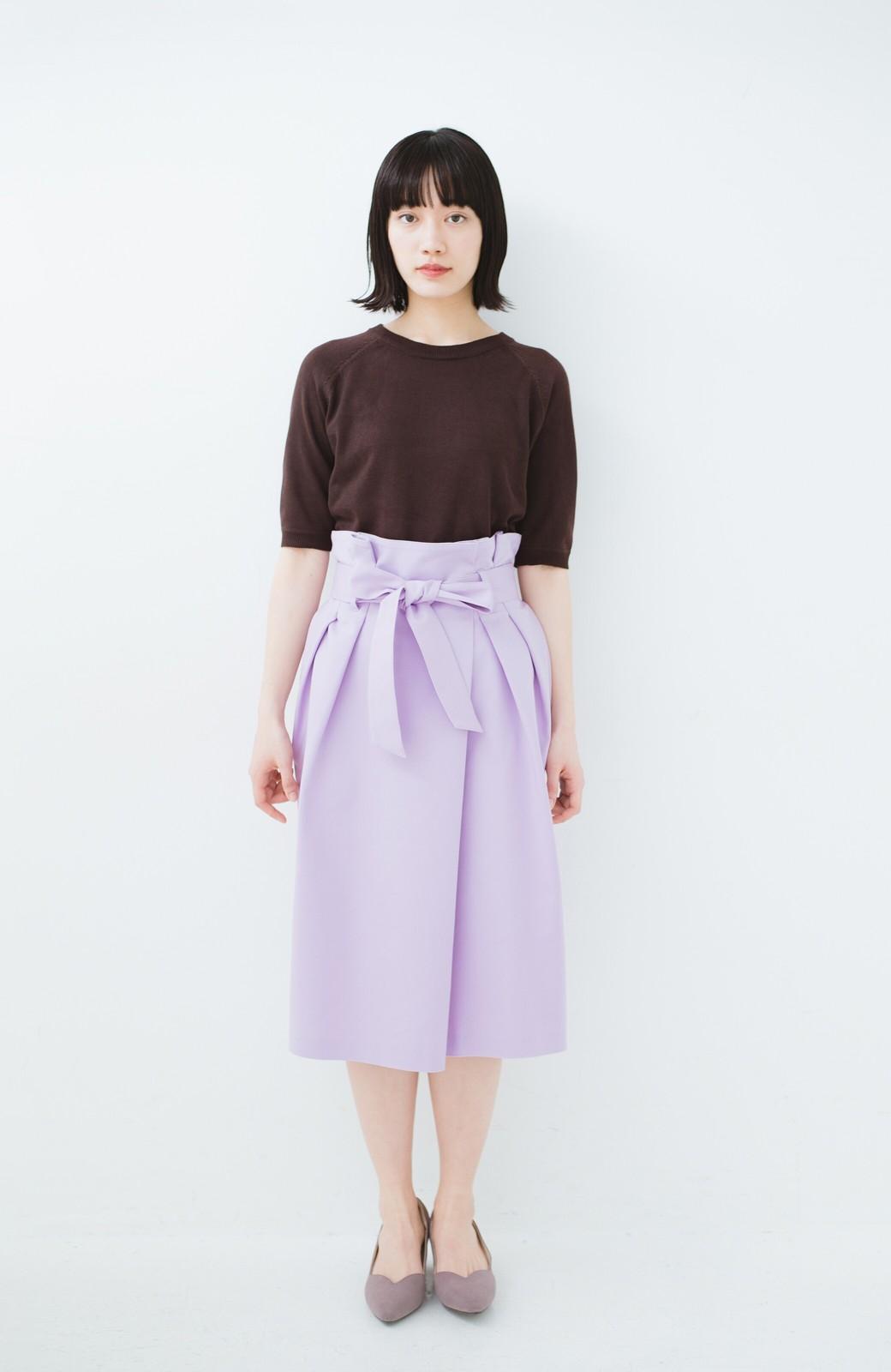 haco! こんな服着てデートしたい! ウエストリボンの女っぽスカート <ラベンダー>の商品写真9