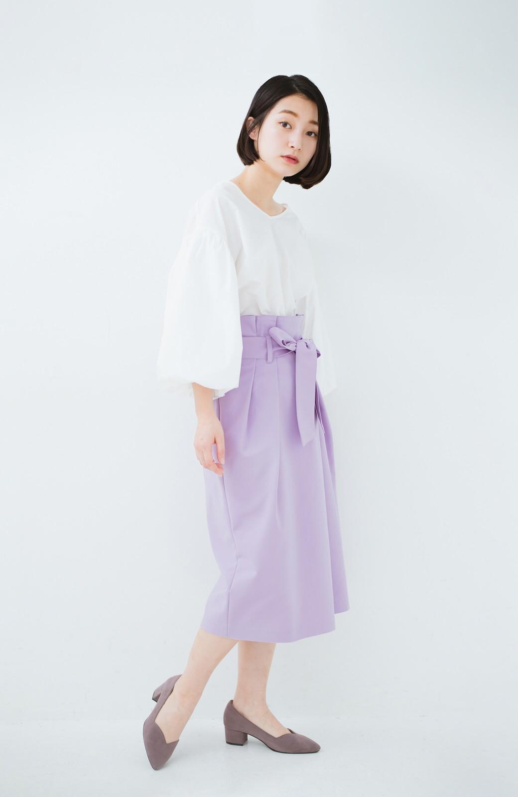 haco! こんな服着てデートしたい! ウエストリボンの女っぽスカート <ラベンダー>の商品写真10