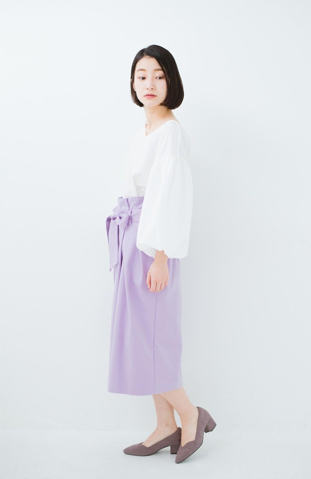 haco! こんな服着てデートしたい! ウエストリボンの女っぽスカート <ラベンダー>の商品写真11