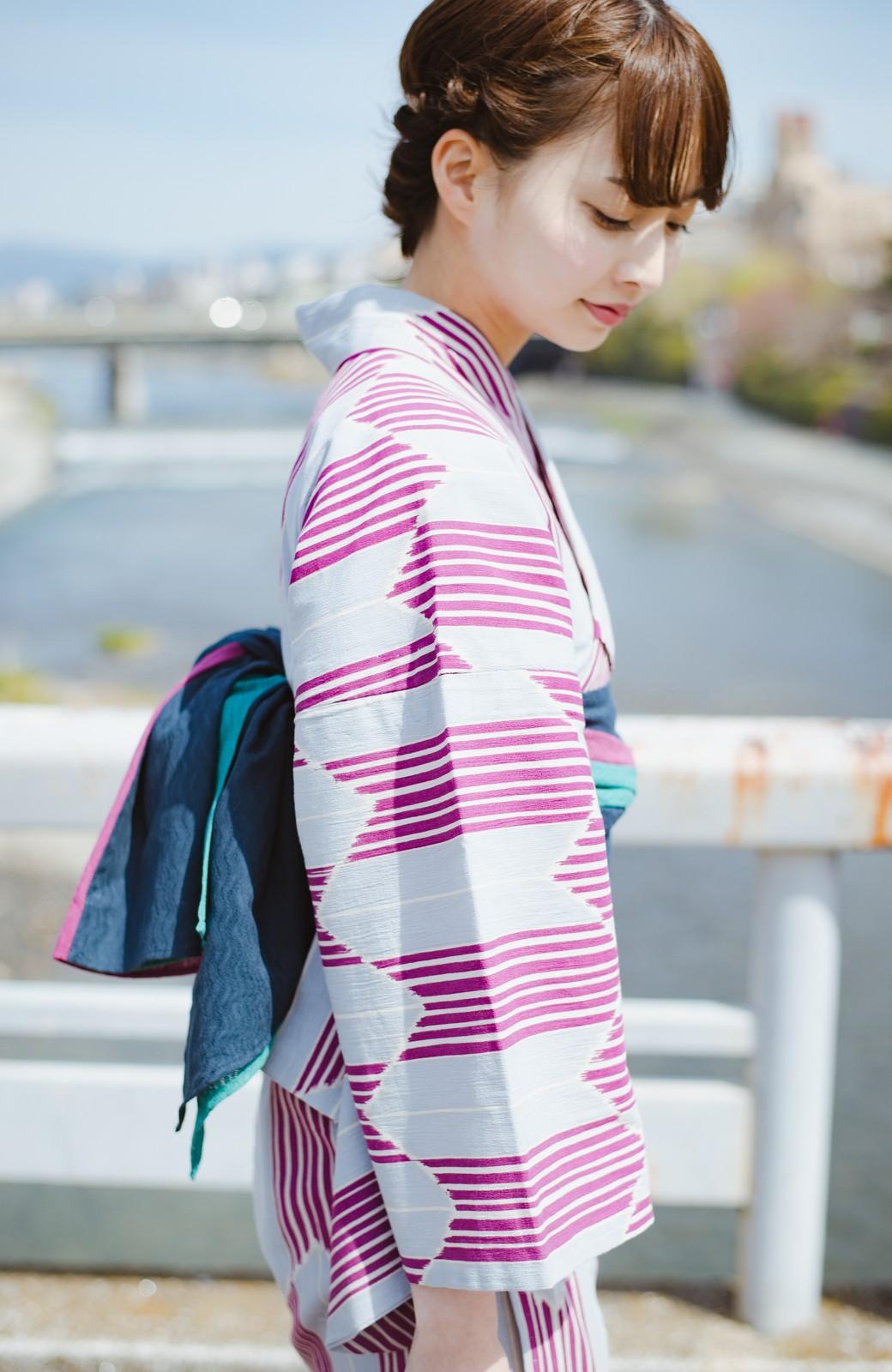 haco! ひでや工房 京都の3色へこ帯  <パープル系その他>の商品写真4