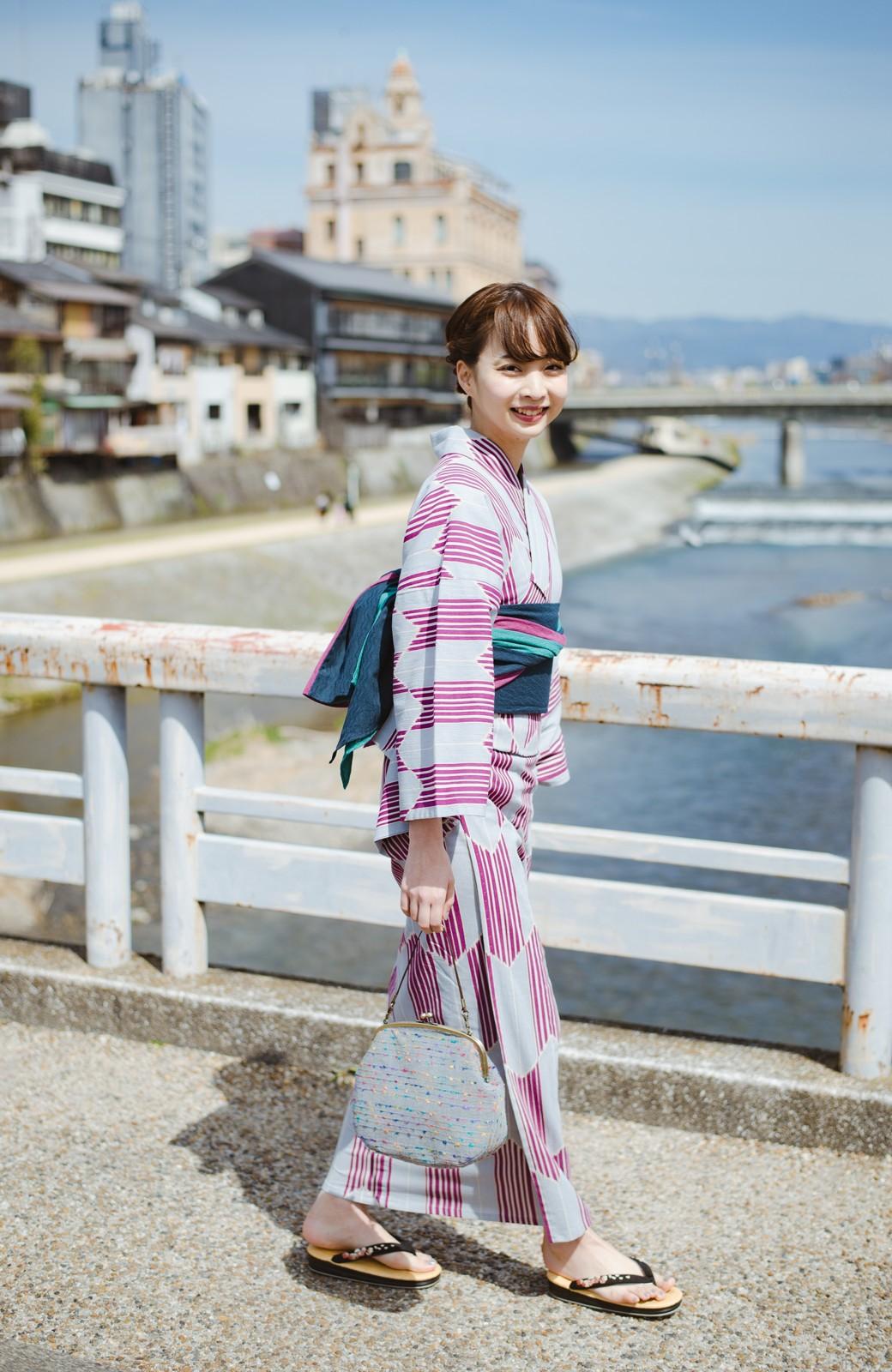 haco! ひでや工房 京都の3色へこ帯  <パープル系その他>の商品写真5