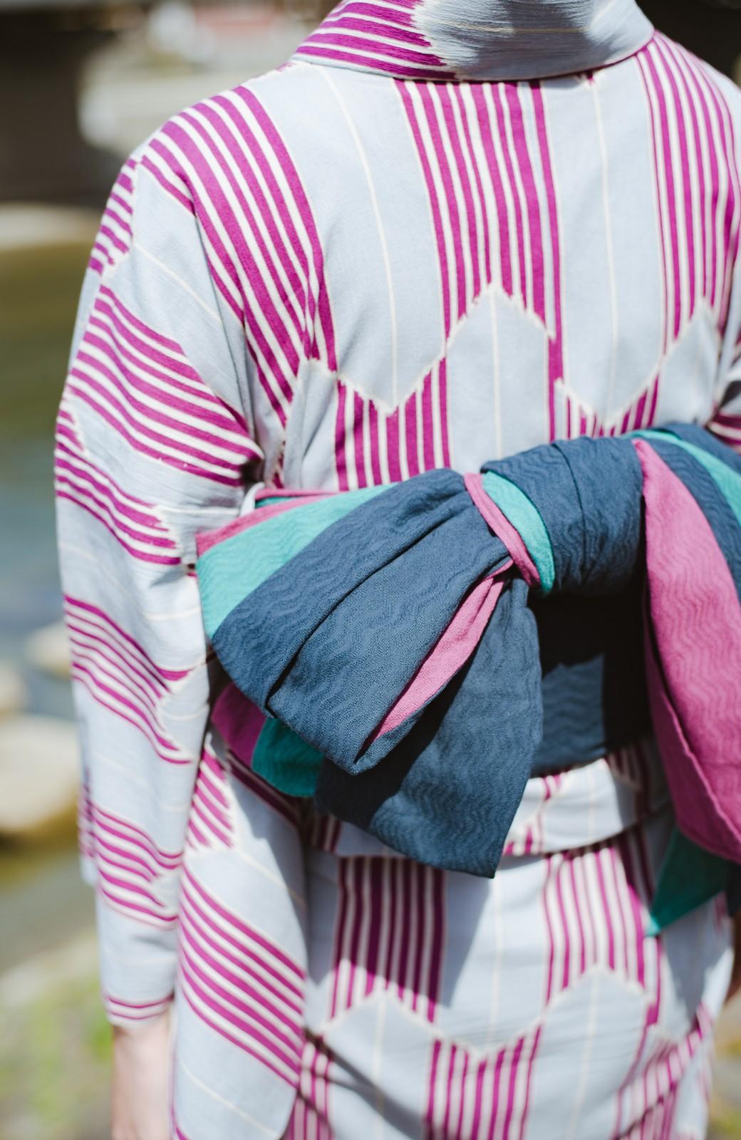 haco! ひでや工房 京都の3色へこ帯  <パープル系その他>の商品写真6