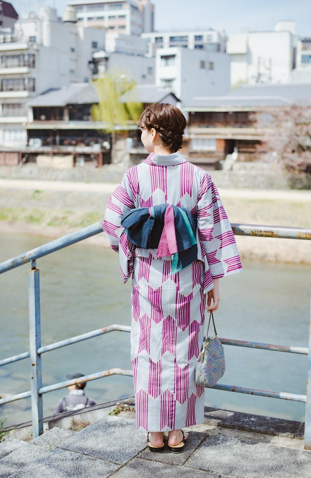 haco! ひでや工房 京都の3色へこ帯  <パープル系その他>の商品写真7