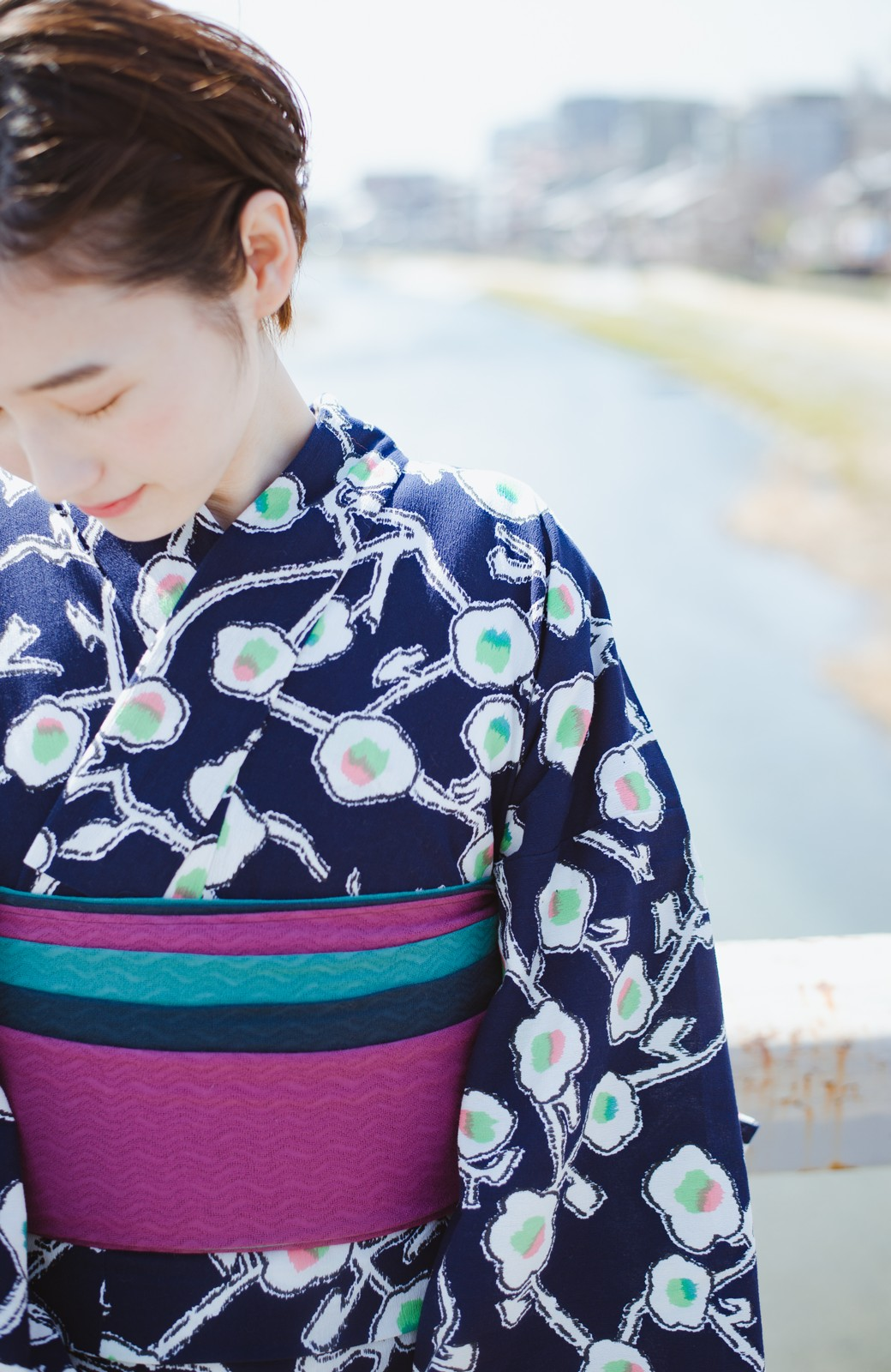 haco! ひでや工房 京都の3色へこ帯  <パープル系その他>の商品写真9