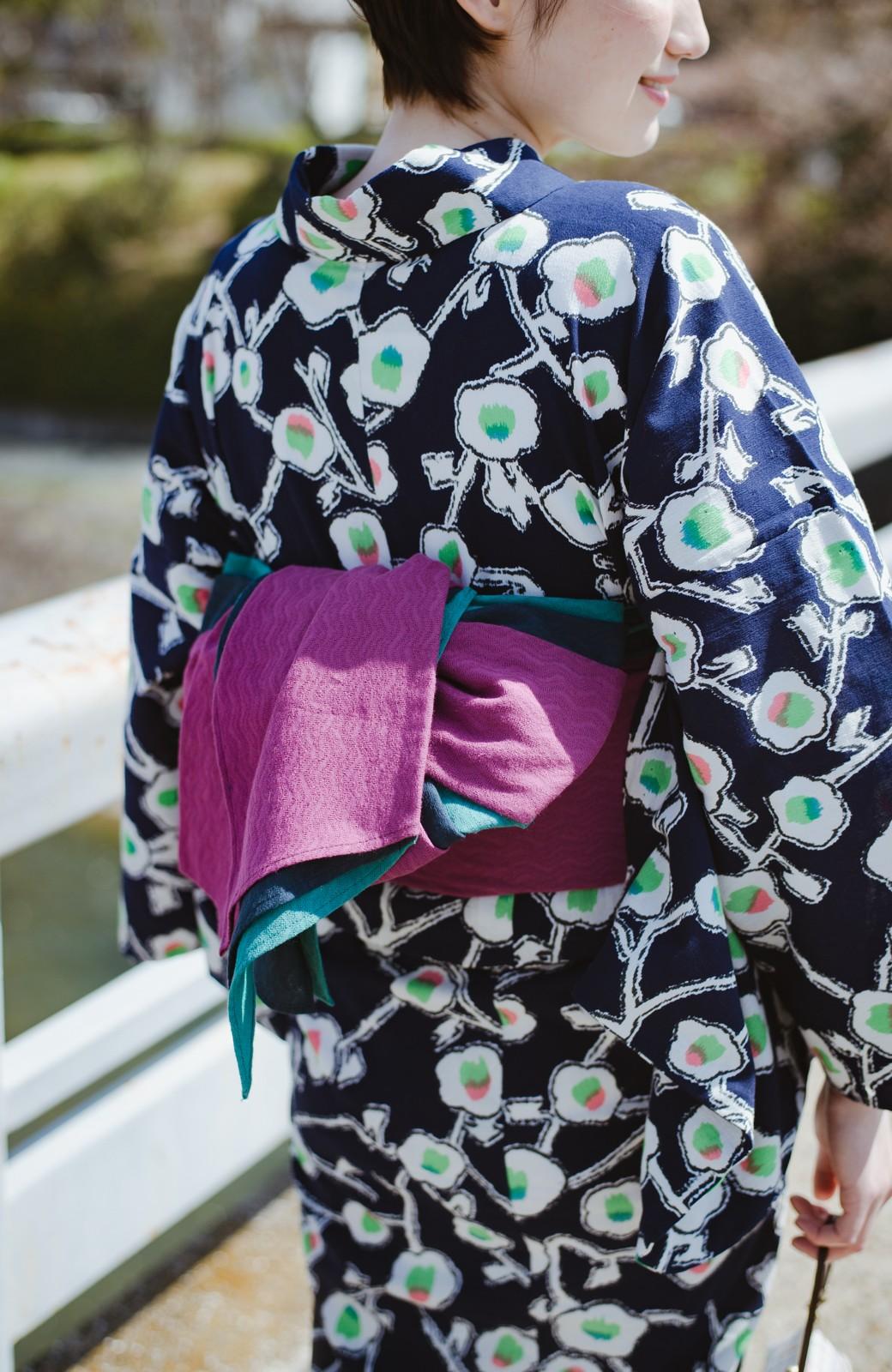 haco! ひでや工房 京都の3色へこ帯  <パープル系その他>の商品写真10