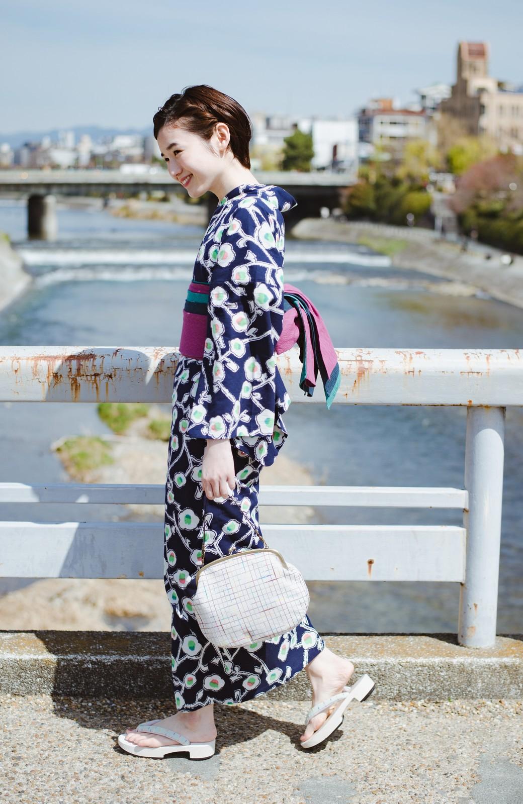 haco! ひでや工房 京都の3色へこ帯  <パープル系その他>の商品写真11