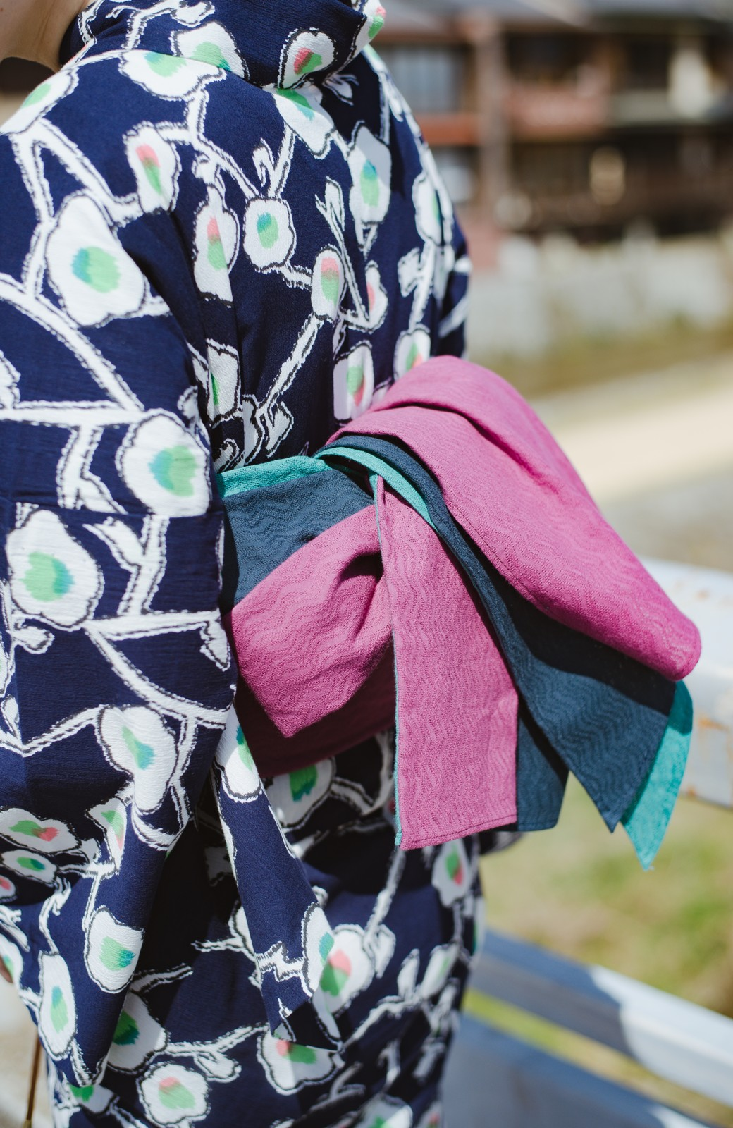 haco! ひでや工房 京都の3色へこ帯  <パープル系その他>の商品写真12